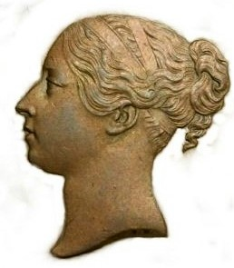 The Celebrated Young Head Portrait of Victoria 1839 -